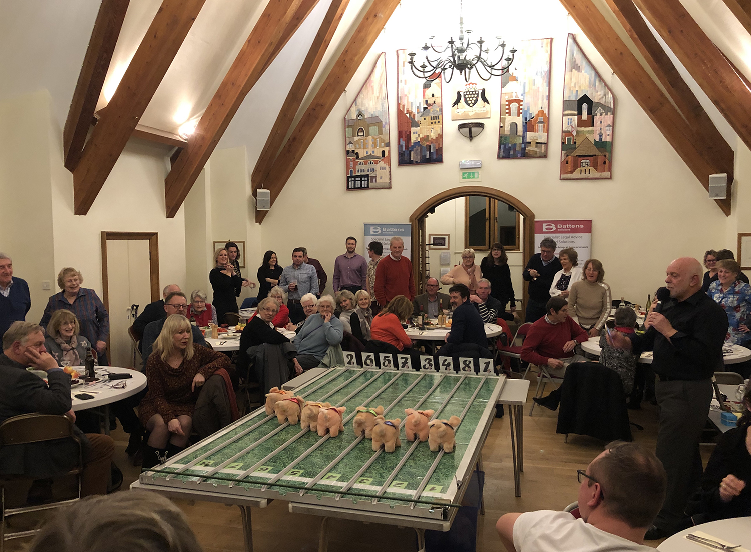 Dorchester Round Table charity pig racing