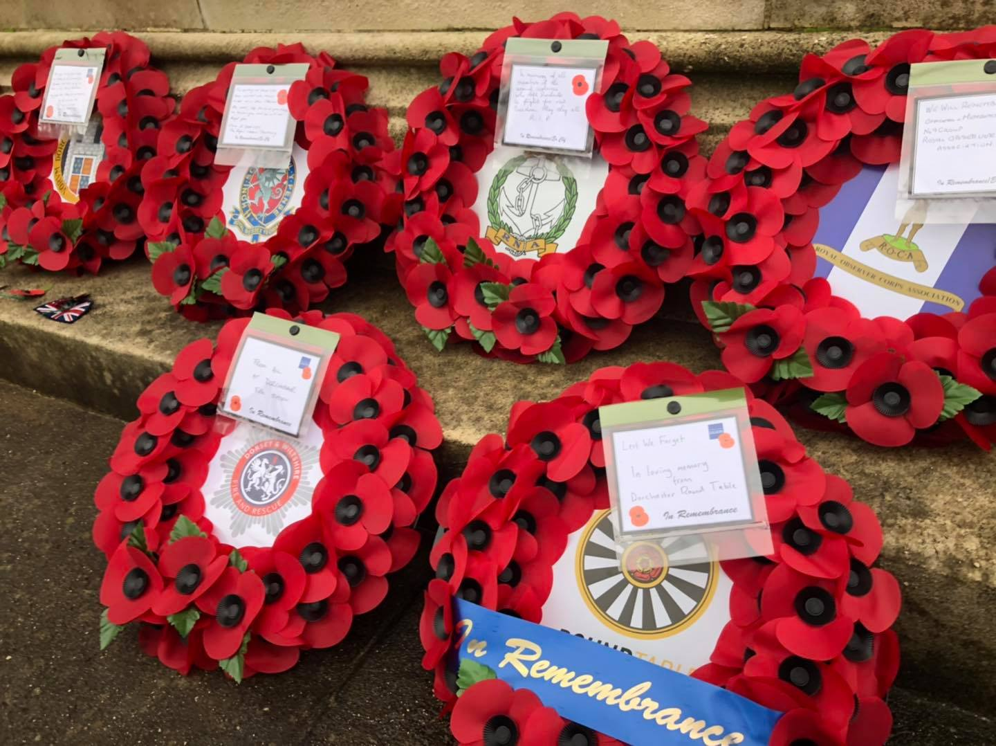 dorchester Remembrance Sunday wreaths
