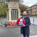 Dorchester round table chairman Paul Castle on Remembrance Sunday 2020